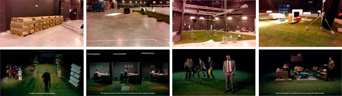 Preparación set rodaje anuncio Heineken 2016. Viveros Coronado